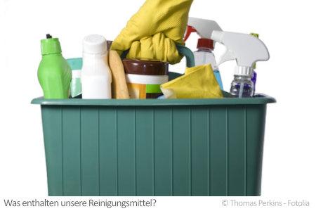 Einen ganzen Korb voll Reinigungsmittel verwenden wir regelmäßig. Doch welche Stoffe enthalten sie?