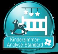 Die Luftanalyse Kinderzimmer Standard ermittelt zuverlässig Schadstoffe in der Raumluft.