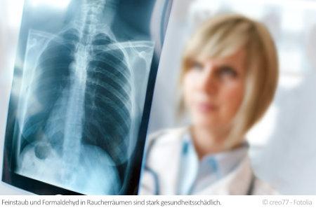 Die Folgen von Feinstaub und Formaldehyd in Zigaretten können ernsthafte Lungenerkrankungen sein.